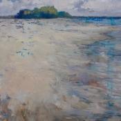 Shoreline on beach