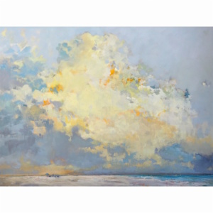 Clouds over beach scape