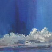 DAY 26-Clouds in the Blue, 12x12*