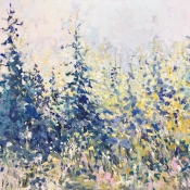 impressionist approach to pines in fields
