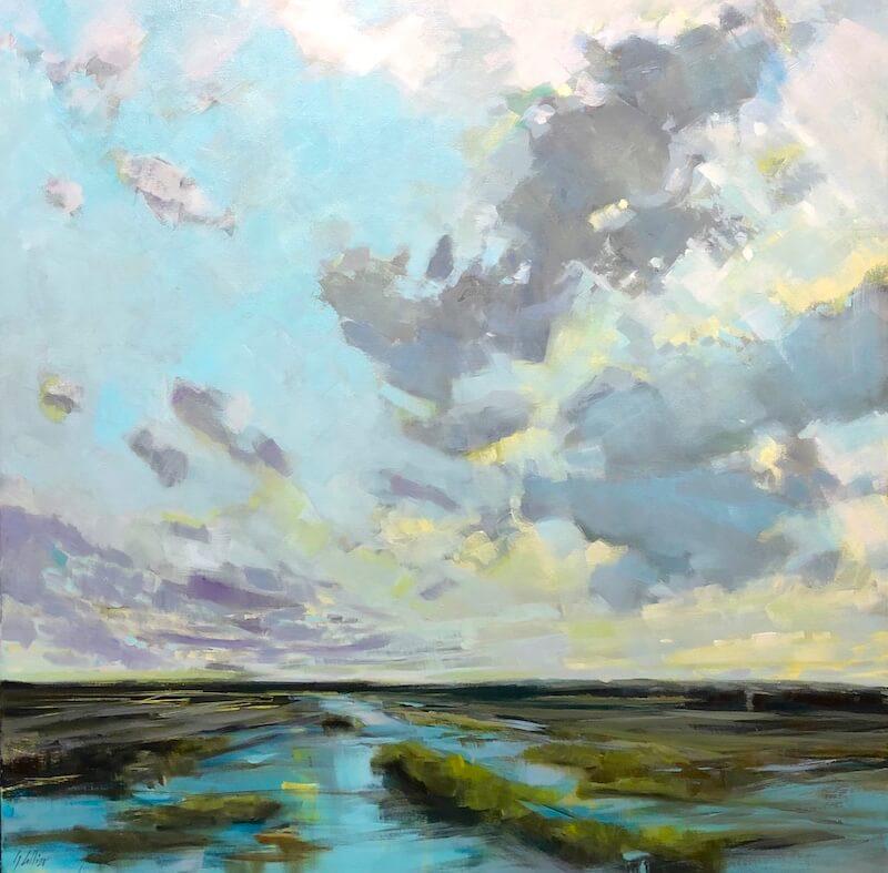 after rain, Gabriella Collier landscape paintings