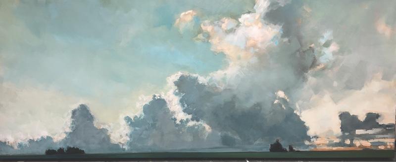 Minimal Landscape, Gabriella Collier landscape paintings