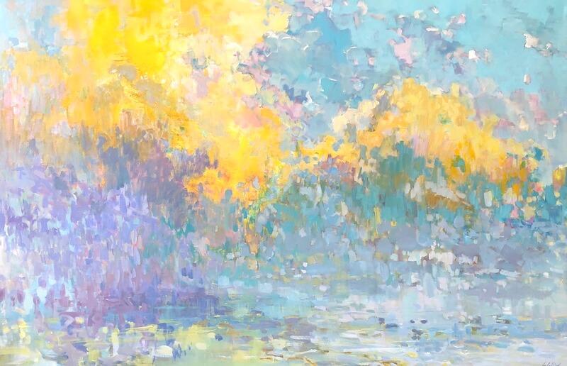 A billow of colour, Gabriella Collier landscape paintings
