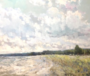 Repose,landscape painting