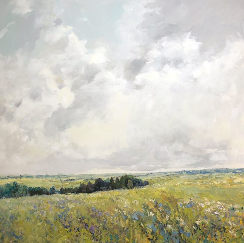 View of the Fields, landscape painting