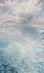 Blue Water Beach, landscape painting