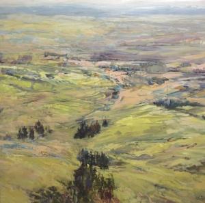 Georgian terrain, landscape painting
