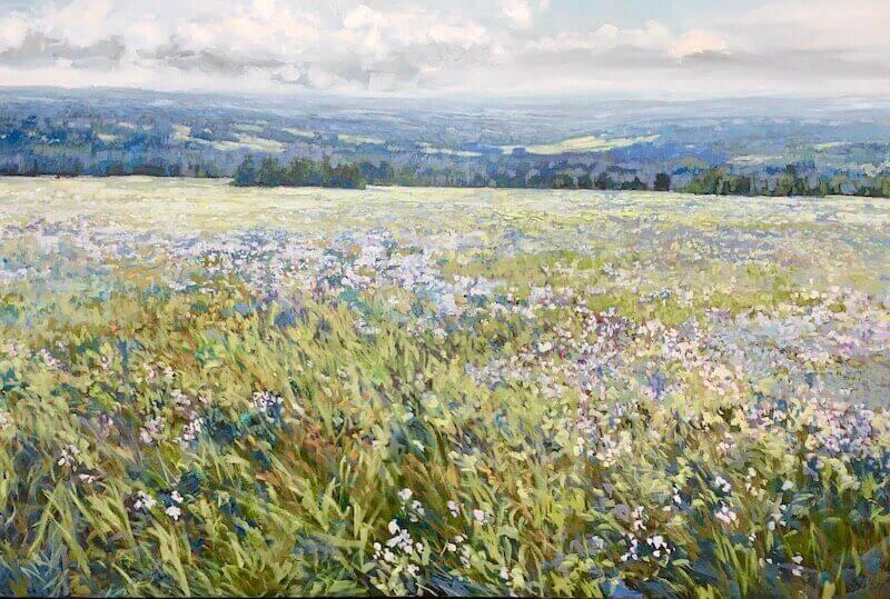 Boistrous Blooms, landscape painting