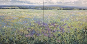 Thirsting Flowers diptych, landscape painting