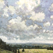 Wafting By, landscape painting