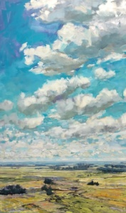 Clouds Sail the Sky, landscape painting