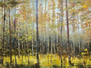 A Tranquil Spirit diptych, landscape painting