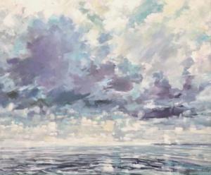 cloud, sky, painting