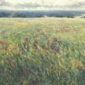 meadow, landscape painting, original art