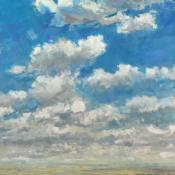 landscape, clouds, painting