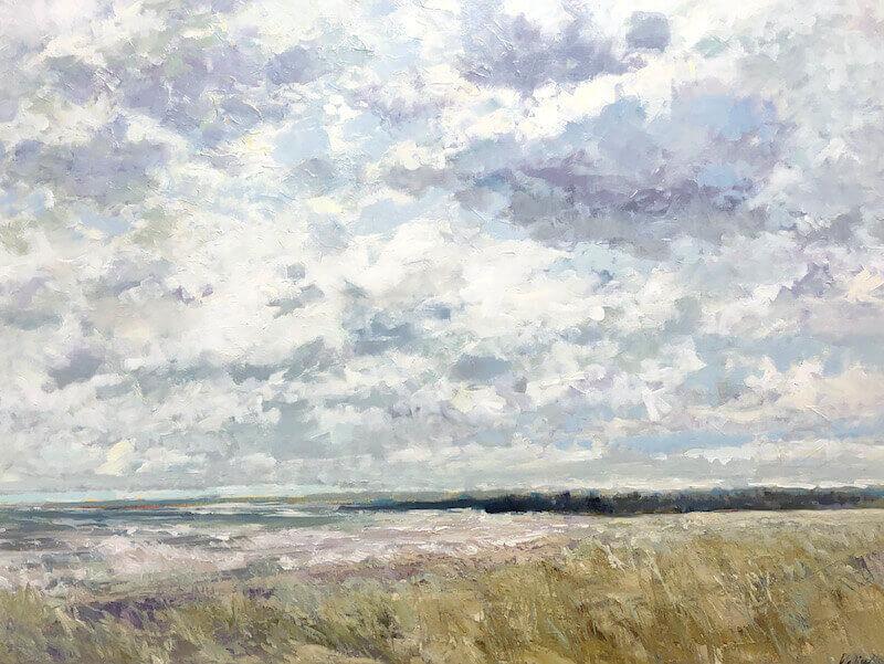 Beach, landscape, clouds