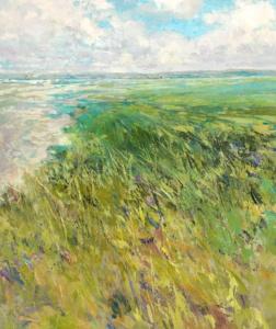 Dunes, Lake, Beach, Grass